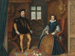 Philip & Mary shortly after their marriage in Winchester Cathedral by Bishop Stephen Gardiner on St James's Day, 1554