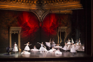 The setv- a grand opera house in which the ballerinas strutting their stuff