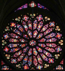 Rose window at Reims